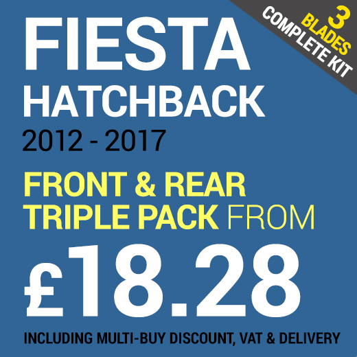 Windscreen Wipers for a Ford Fiesta Hatchback 2012 - 2017 - Front & Rear Set from only £18.28 including Delivery